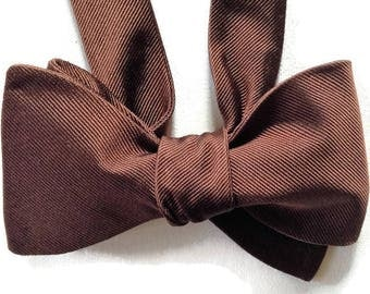 Silk Bow Tie for Men - Earth - One-of-a-Kind, Handcrafted, Self-tie - Free Shipping