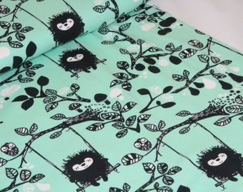 Organic Cotton Jersey Fabric | Paapii | Siiri On the Swing Mint