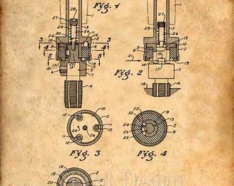 Flexible Tool Holder Patent Art Print Patent Poster