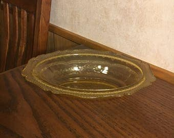 Serving Bowl Amber Glass