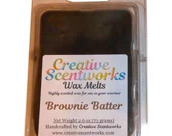 Brownie Batter Scented Wax Melts, Wax Cubes, Wax Tart, Wickless Candle, Melting Wax, Wax Melt, Chocolate, Scent Bar, Scent Cube, Wax Bar