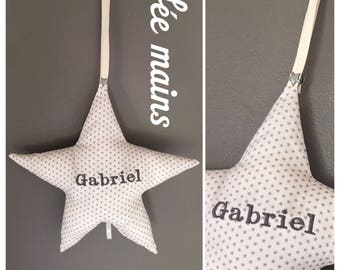Custom musical star embroidered on your child's name