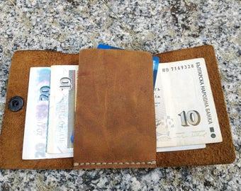 Simple front pocket wallet, slim wallets for men, nice mens wallets, mens slim leather wallet, thin wallets for women, mens brown wallet