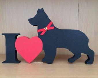 German Shepherd Plaque, dog gift
