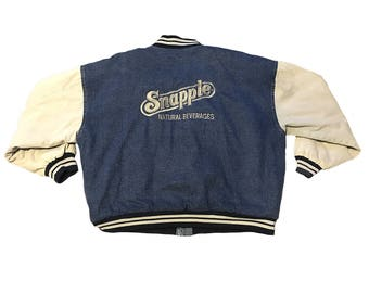Vintage Snapple Letterman Jacket