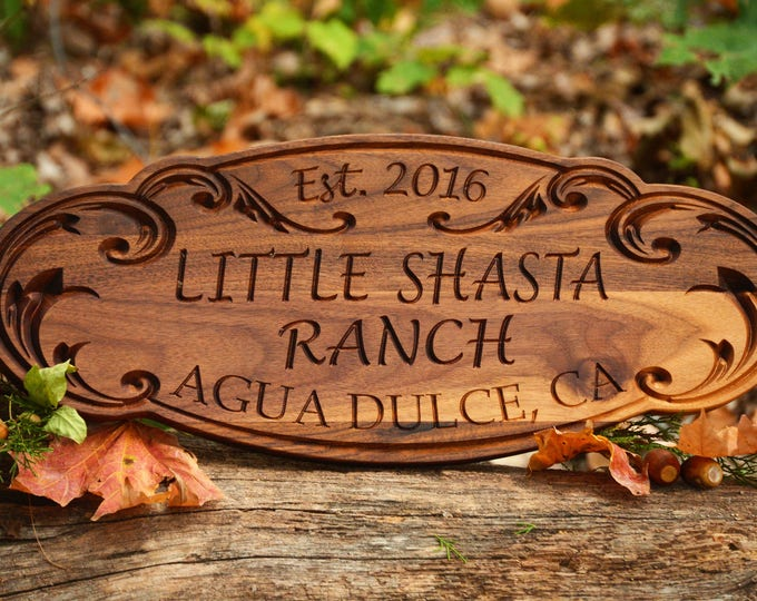 Personalized Wood Sign Family Name Sign Outdoor Sign Personalized Wood Sign Outdoor Name Sign Couples Wedding Gift Last Name Establish Sign