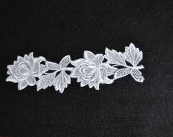 White guipure flower lace