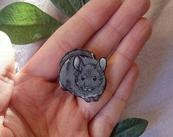 Custom Chinchilla Pendant/Necklace With Optional Chain