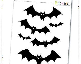 Halloween bat vinyl stickers