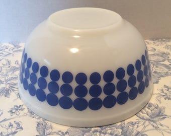 Pyrex Polka dot  Nesting Bowl 403 Blue Pyrex Polka dot Mixing Bowl 403 Blue Vintage Pyrex Blue Polkadot Bowl