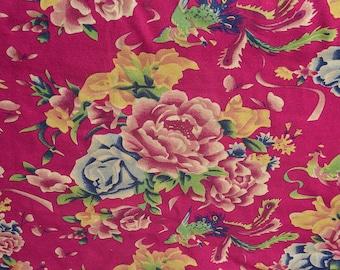 chinese fabric peony laohua  2m