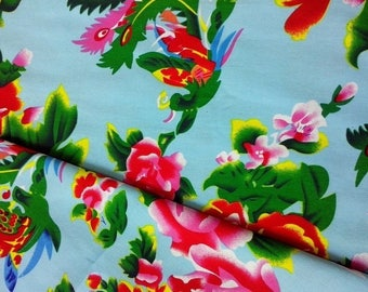 Light blue Chinese traditional fabrics 10 m