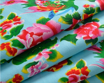 Light blue Chinese traditional fabrics 2 m