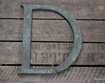 Vintage D Shop Letter