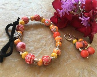 exotic orange lemon romantic ornament