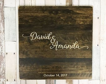 Guest Book Alternative, Unique Wedding Guestbooks, Wedding Guestbook, Wood Guestbook Sign, Beautifully Engraved Wedding Guestbook