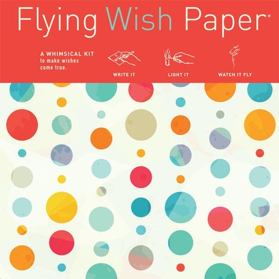 Flying Wish Paper - confetti design - package of 15 wishes, make a wish