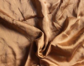 Caramel brown silk 1.50 m x 120 cm