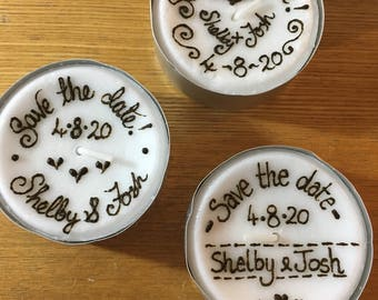 Save the date maxi-tealight candles
