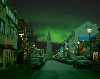 Northern Lights in Reykjavik, Iceland
