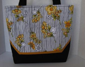 Handbag Fabric Purse Yellow-Gold Tote Handmade Woman's Accessory Birthday Gift Christmas Gift