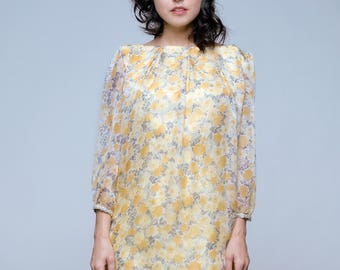Yellow Daisy Dress Handmade in USA