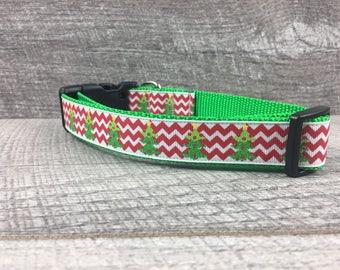 "The O' Christmas Tree| Designer 1"" Width Dog Collar | CupcakePups Collars | Medium/Large Dog Collar | Christmas"