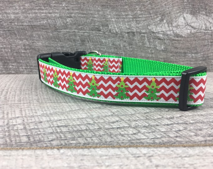 "The O' Christmas Tree| Designer 1"" Width Dog Collar 