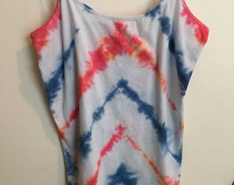 Plus size red white & blue tank
