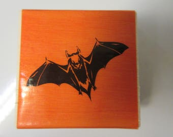Bat Halloween Rubber Stamp-Halloween Stamps-Bat Stamp
