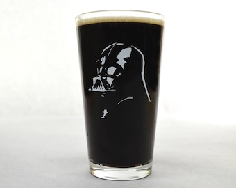 Star Wars Beer Glass - Darth Vader Beer Glass - Star Wars - Beer Glass - Pint Glass - Darth Vader Glass