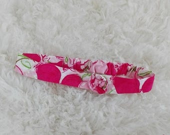 SALE Baby headband in rose pink cherry