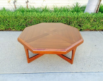 Mid Century Lane Walnut Coffee Table