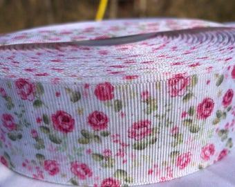 Floral Ribbon, Vintage Floral Ribbon, Rose Ribbon, Spring Ribbon, Easter Ribbon, Flower Ribbon, 1.5 Inch Ribbon