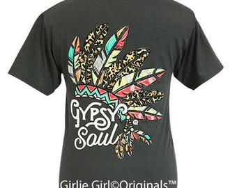 Girlie Girl Originals Gypsy Soul Charcoal Short Sleeve T-Shirt