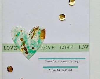 Love Greeting Card - Anniversary Card - Wedding Anniversary Card - Romantic Card - Heart Card