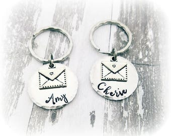 Postal Worker Gift - Mailman Mail lady - Postmaster Gift - Post Office Worker - Mail Delivery Gift - Personalized  Keychain - Mail Carrier