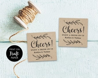 Wedding ticket etsy for Drink token template