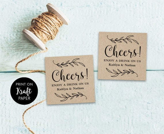 Drink tickets drink token printable wedding drink tickets for Drink token template