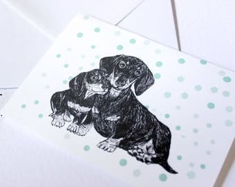 Dachshund Dog Card