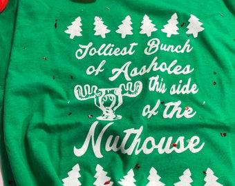 jolliest bunch of assholes shirt Christmas vacation shirt Christmas shirt / funny Christmas shirt /