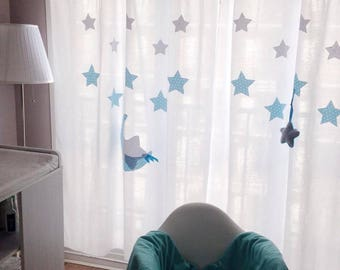 handmade baby, 100% cotton child's room curtains