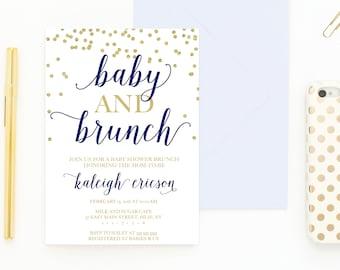 Baby Shower Invitation, Baby Shower Brunch, Baby Shower Brunch Invitation, Baby Shower Invitations for Boys, Baby Shower Invitations [479]