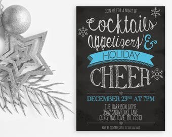 Holiday Party Invitation, Christmas Party Invitation, Christmas Invites, Holiday Invites, Christmas Party, Holiday Party, Holiday Cheer 105