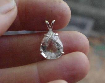 Natural Spodumene in Sterling Silver Pendant