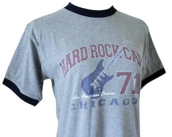 OLD VINTAGE Hard Rock Ringer T/Hard to Find/Fits Close to: Med