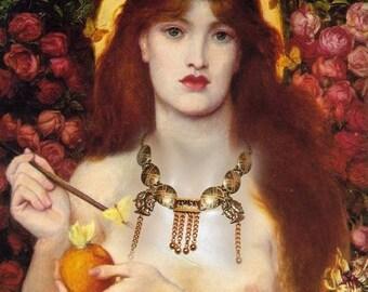 Baroque necklace in antique - the Warriors of Toledo