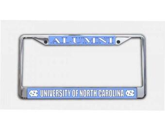 University of North Carolina Alumni Chrome License Plate Frame