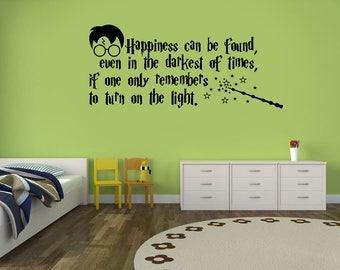 Harry Potter, Quote, Wall Sticker,  Kids room, Interior Sticker,  Window Sticker, Car Sticker, Wall Decal, Wall Decor,
