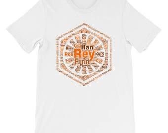 "Space Opera #4 Word Art T-Shirt in ""Jakku Orange"""